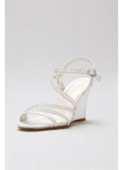 Crystal Detailed Strappy Low Wedges Emma 5 Wedding Shoes Comfortable Wedges Wedge Wedding Shoes Wedding Shoes Comfortable