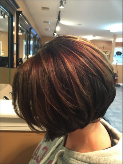 20 Bob Haare Mit Highlights Schokoladenbraune Haarfarbe Haarschnitt Haarfarben