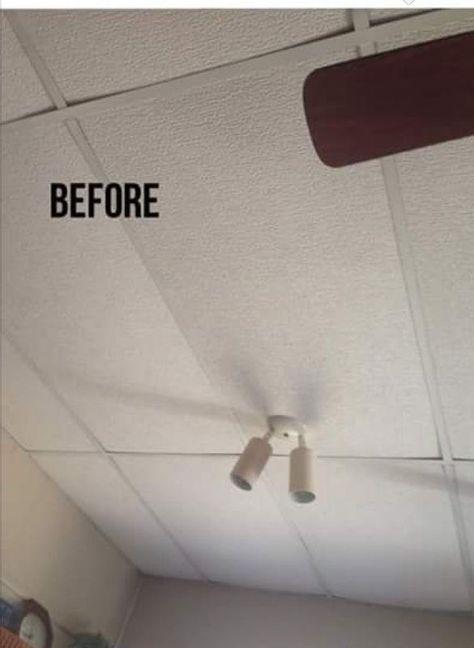 Update Your Drop Ceiling Drop Ceiling Basement Dropped Ceiling Drop Ceiling Tiles