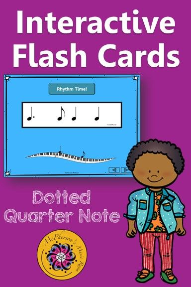 Rhythm Flashcards Dotted Quarter Note Interactive Rhythm Flash Cards Elementary Music Lessons Music Education Lessons Music Lesson Plans