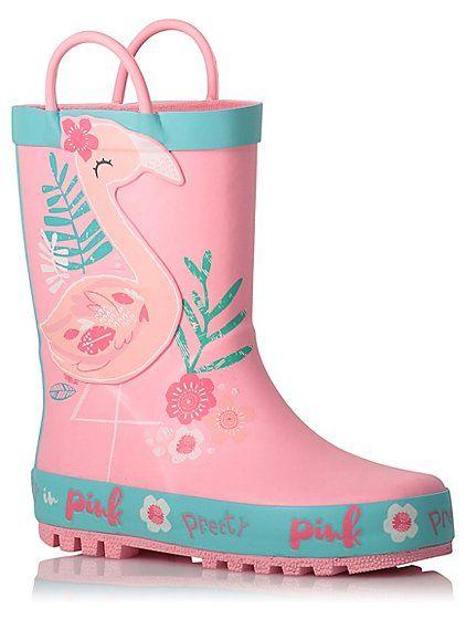 Flamingo Wellington Boots | Kids