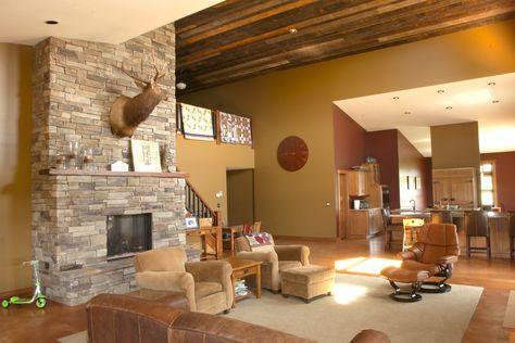 Morton Buildings custom home interior in Hinckley, Minnesota.