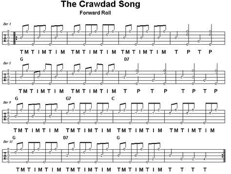The Crawdad Song Banjo Roll Practice Banjo Pinterest Banjo