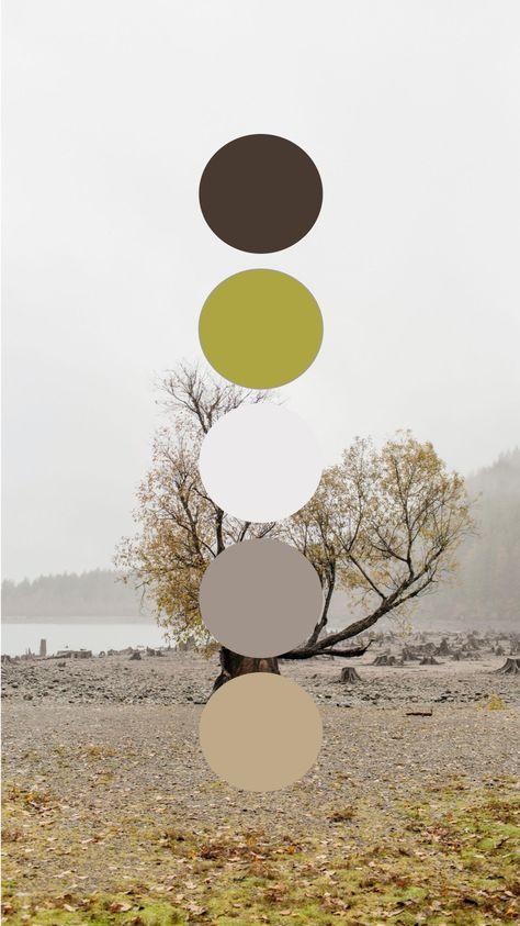 Washington Rattlesnake Lake Fall Leaves Color Palette Wedding