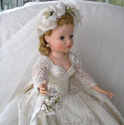 SPECTACULAR VINTAGE MADAME ALEXANDER RARE CISSY BRIDE | eBay
