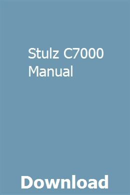 Stulz C7000 Manual | biobengome | Repair manuals, Honda cbx
