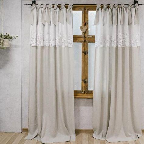 Boho Chic Curtains Farmhouse Curtains Natural Curtains Vintage