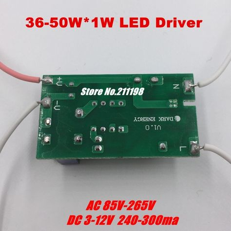 Free Shipping 36 50w Dc120 160v Led Driver Power Supply Ac 220v Built In Constant Current Lighting Transformers For Ceiling La Led Drivers Led Constant Current