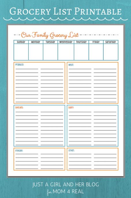 Best 25+ Grocery list templates ideas on Pinterest Recipe and - free shopping list template