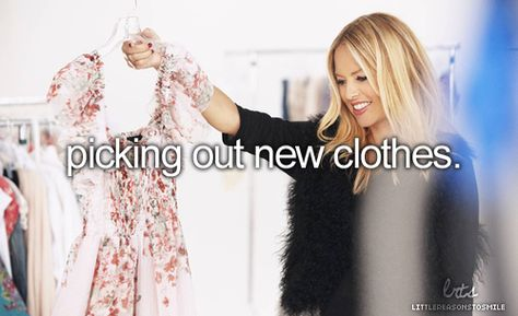 picking out new clothes