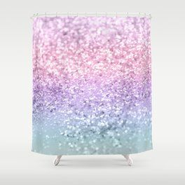Unicorn Girls Glitter Pastel Shower Curtain Cutegiftideas Gift