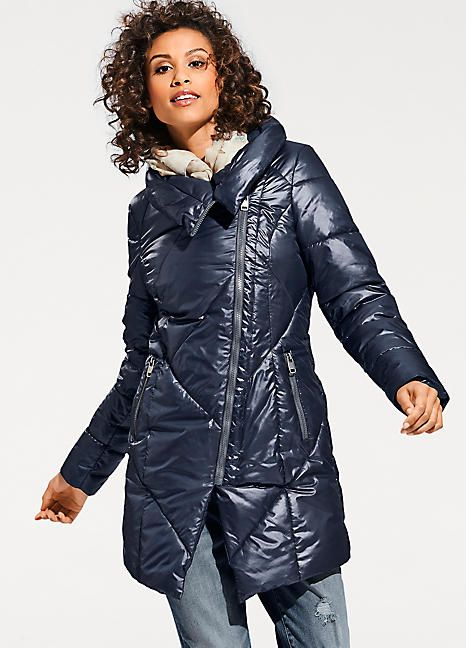 Heine Asymmetrical Quilted Coat in 2019 | Coat, Puffer