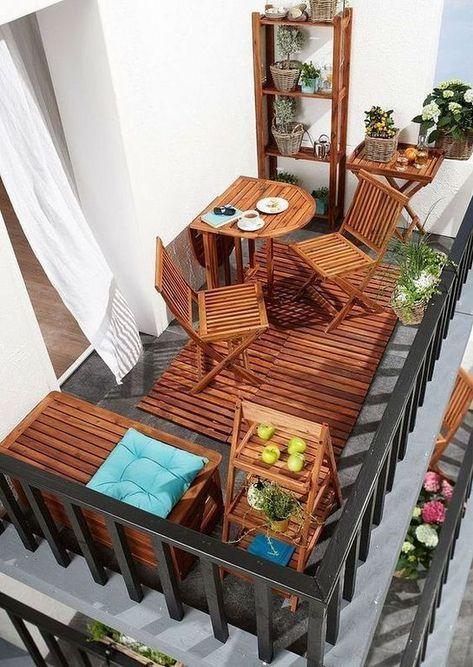 20 Balkonmobel Set Aus Holz Design Ideen Fur Kleine Raume Top