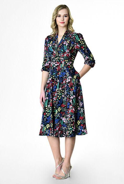 8c679b38ad Monki high neck floral print midi dress in 2019