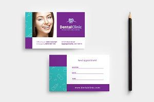 Dental Clinic Appointment Card Dental Clinic Appointment Cards Card Templates Free