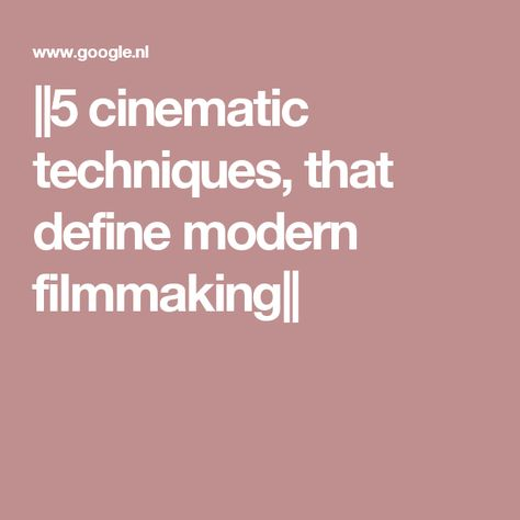 cinematic techniques Film assignment: show how several types of cinematic techniques convey the themes of a film sample paper cinematic techniques and the redemption theme in rocky.