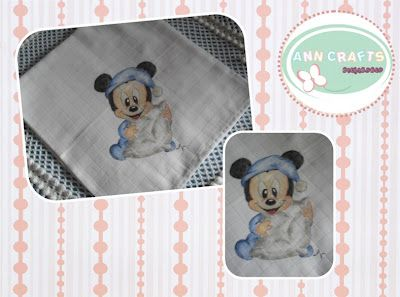 Mickey Mouth towel baby