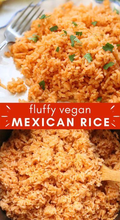 Easy Mexican Rice Vegan Side Dish In 2020 Vegan Side Dishes Vegetarian Side Dishes Side Dish Recipes Healthy