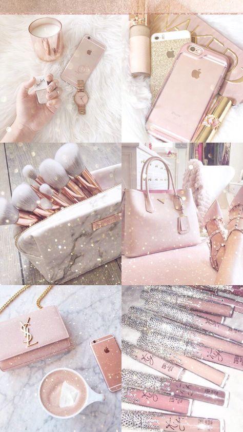 Rose Gold Lockscreen Cute Girly Fond D Ecran Colore Fond D Ecran Telephone Truc Rose