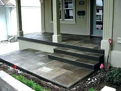Cement Porch Ideas Google Search Concrete Front Porch