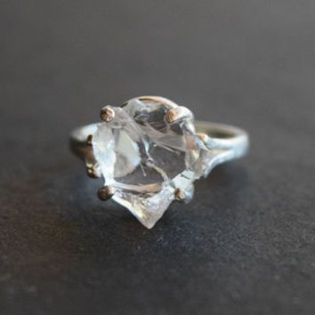 RESERVED Raw Diamond Engagement Ring Rough Natural And Uncut