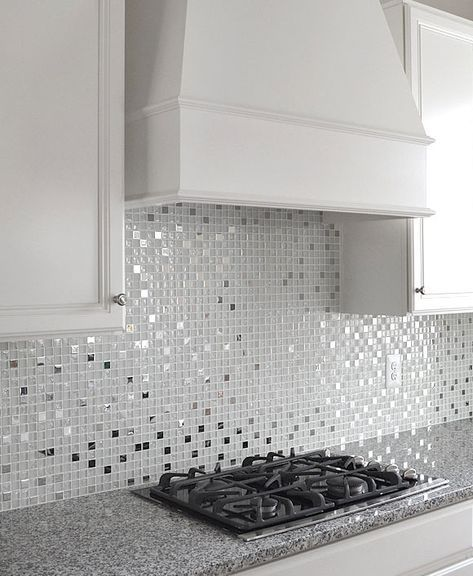 Ba1183 Glass Metal In 2019 Backsplash White Tile