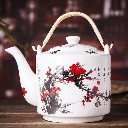Jingdezhen China Ceramic Teapot Large Capacity Porcelain Teapot Tea Pots Ceramic Teapots Porcelain Teapot