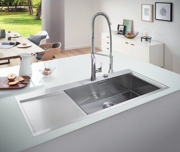 Grohe Single Bowl Inset Kitchen Sink In 2020 Inset Sink Single Bowl Kitchen Sink Sink