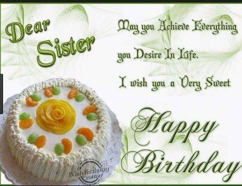 Happy Birthday Wishes For Sister Birthday Greetings For Sister