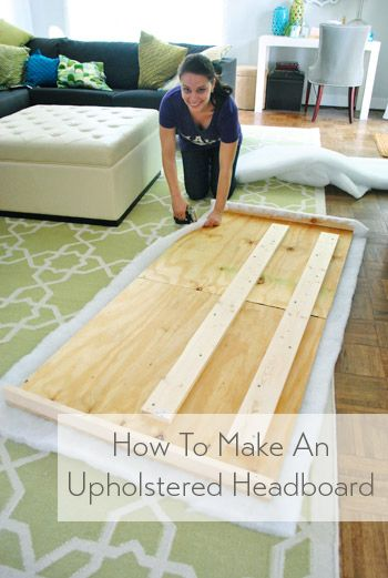 Don't buy an upholstered headboard - make one! It's quick & easy - and you can pick any fabric you'd like. headboard easy fabrics How To Make A DIY Upholstered Headboard, Part 2 Upolstered Headboard, Diy Fabric Headboard, How To Make Headboard, Headboard Designs, Tufted Headboards, Headboard Ideas, Making A Headboard, Pallet Headboards, Headboards For Beds Diy