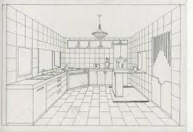One Point Perspective Drawing Living Room の画像検索結果 Room