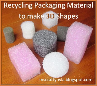 #Math DIY: Recycling Packaging Material to make 3D Shapes