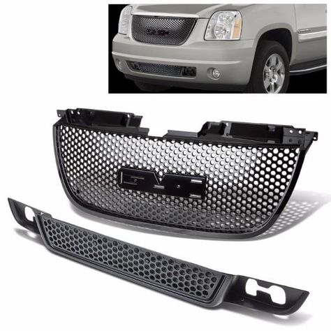Front Lower Upper Black Replacement Grille Grill For Gmc 07 12