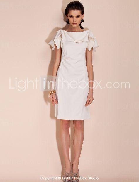 TS Simplicity Folded Collar Sheath Dress - US$ 31.49