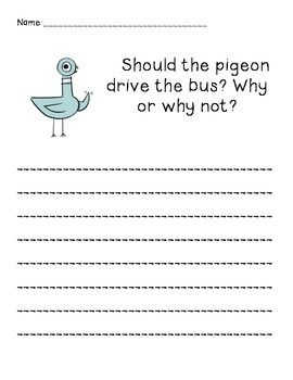 10+ Dont let the pigeon drive the bus coloring page free download