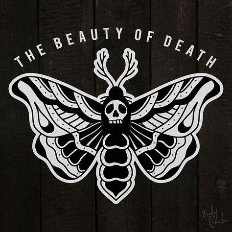 halloween tattoo flash moth - Google Search