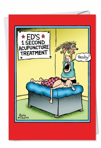 Porcupine Acupuncture Get Well Card Mcilwaine Funny Cartoons