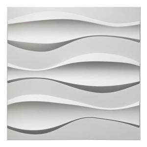 Luxorware 19 7 In X 1 In X 19 7 In White Pvc Fiber 3d Wall Panels 12 Pack Lw3d894 The Home Depot In 2020 Vinyl Wall Panels Pvc Wall Panels 3d Wall Panels