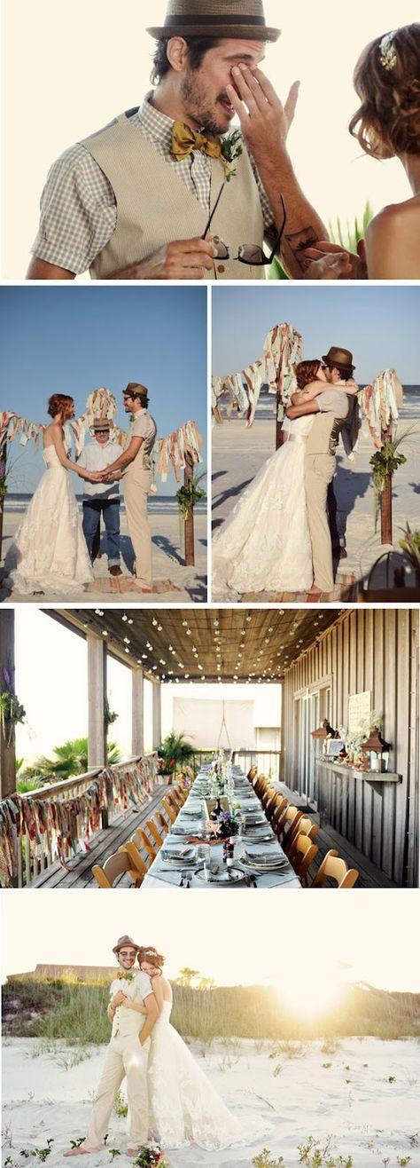 {Love Notes}. El blog de bodas de Vintage & Chic: {Una boda informal en una playa de Florida}