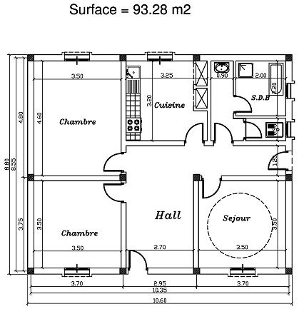 Plan Maison F4 Plan De Maison F4 Plan De