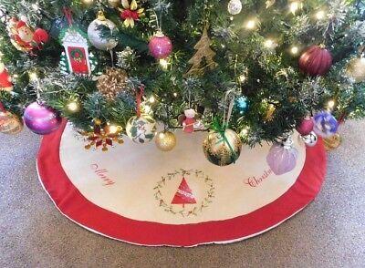Albero Di Natale Usato.Christmas Tree Skirt Embroidered Skirt Christmas Tree Design Lined Disegni Di Albero Idee Per L Albero Di Natale Alberi Di Natale