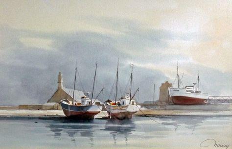 Jacques Noury Le Port De Camaret Sur Mer Aquarelle Mer