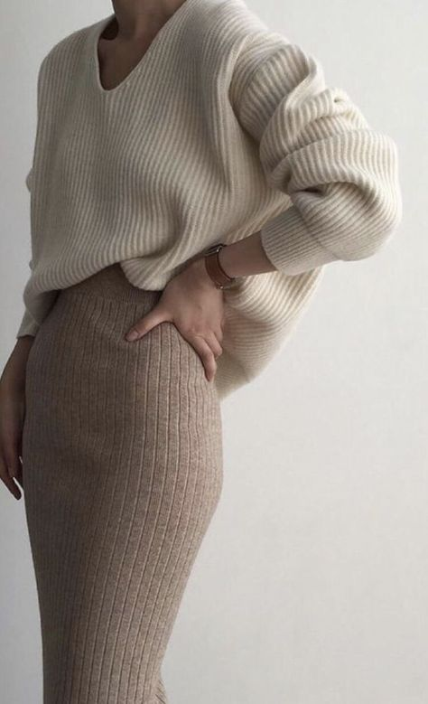Sweater and Sweater Skirt | Lovely Combo | Fall Neutrals | Fall Fashion