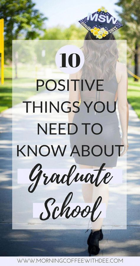 Find out why Graduate school isn't as bad as people make it sound! I have 10 positive things that you NEED to know about graduate school! college university grad school MSW graduate school tips college tips university tips, social work, pers Grants For College, College List, College Majors, Online College, Scholarships For College, College Hacks, Education College, College Students, Special Education