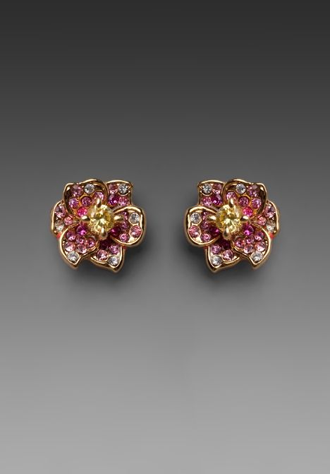 Shop for Juicy Couture Flower Stud in Overflow Pink at REVOLVE.