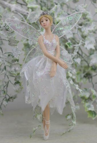 Gisela Graham Fairy Ballerina Red Christmas Decoration Ballet Dancer