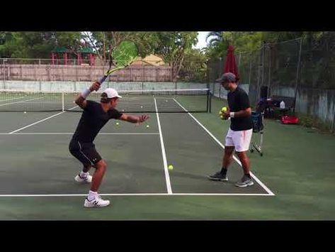 Professional Tennis Training With Coach Brian Dabul Federer Nadal Djokovic Youtube Tennis Tennis Lessons Tennis Drills