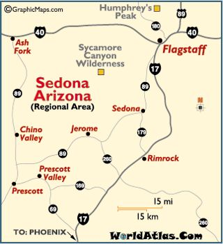 Vortex Map of Sedona AZ from The Call of Sedona Important Info
