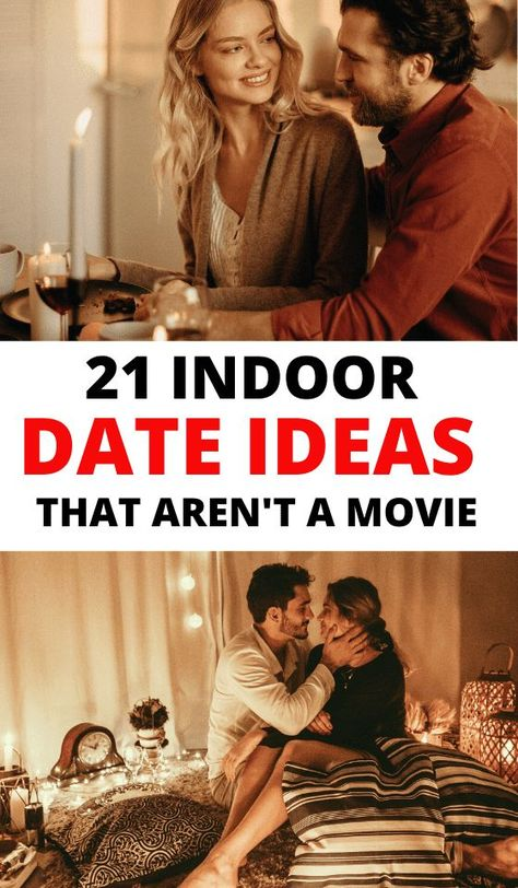 Indoor Date Ideas for Couples including cute activities at home on rainy days, for teens, romantic & cozy winter date ideas, the ultimate list of fun, DIY and cheap indoor date ideas here! date night ideas at home