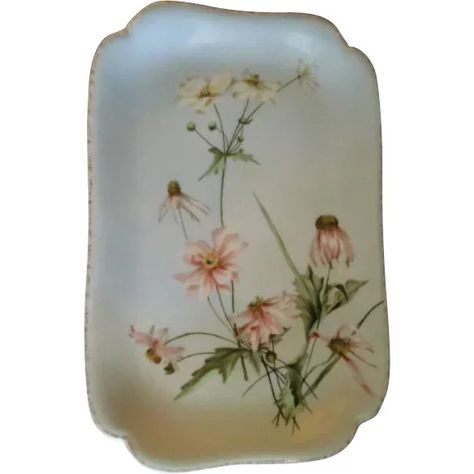 Charles Haviland & Co., Limoges Hand Painted Floral Ice Cream/Serving Platter, Circa 1880's, Signed & Dated